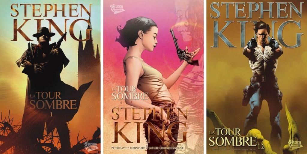 Couvertures de l'adaptation en BD de la Tour Sombre